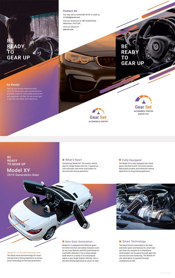 automotive brochure template