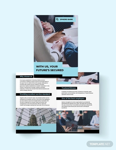 banking bi fold brochure template