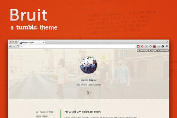 bruit vintage tumblr theme