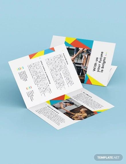 business banking bi fold brochure template
