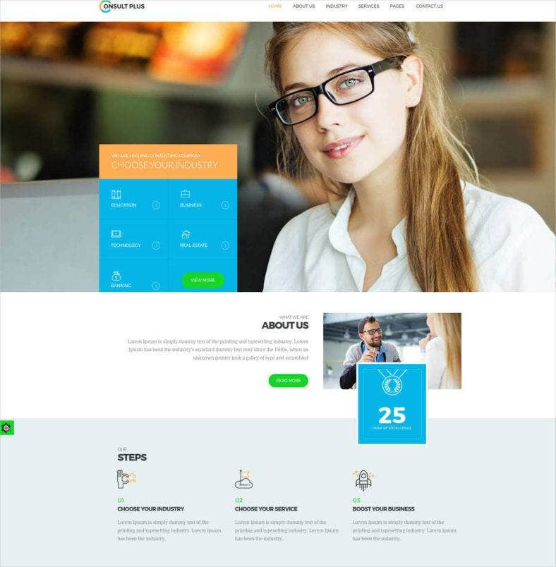 business consultancy html5 website template 17 788x804