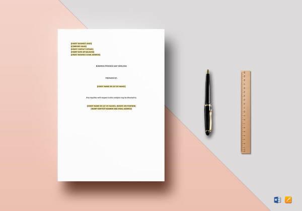 business process gap analysis template2