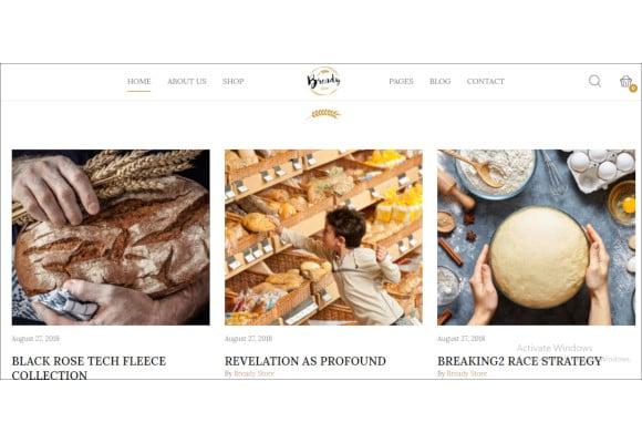 cake bakery wordpress website theme