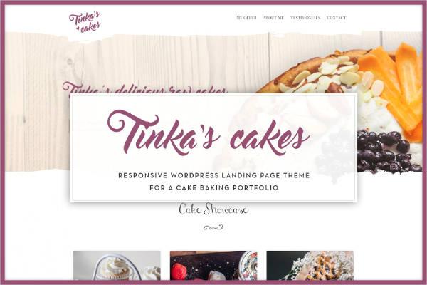cake baking portfolio theme
