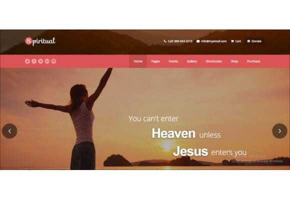 church wordpress mobile friendly theme