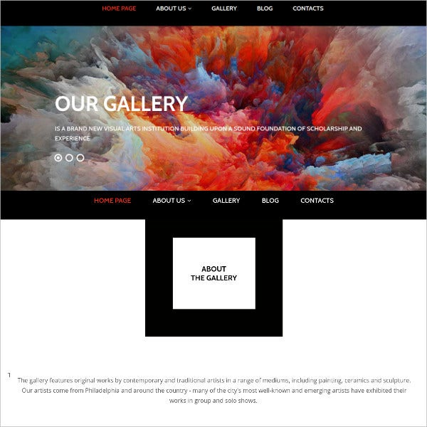 colorful art gallery responsive motocms