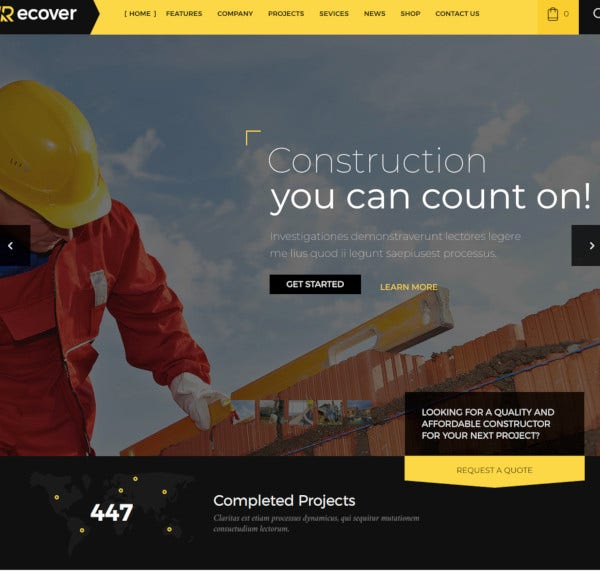 construction building business wordpress theme1