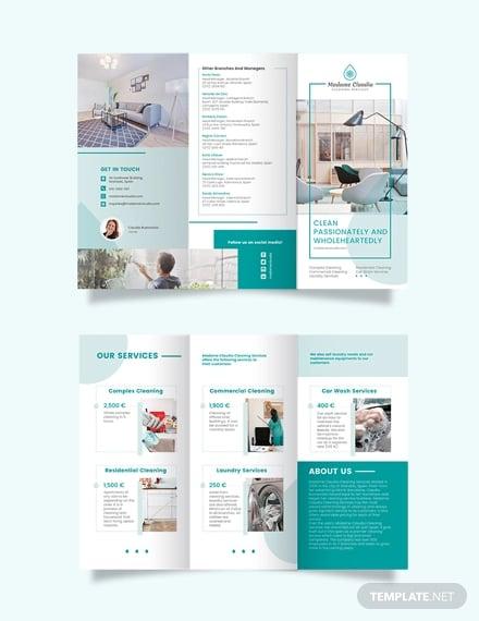 consultant tri fold brochure template