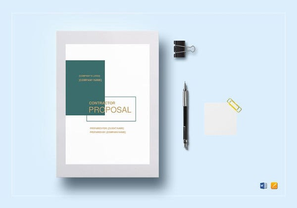 Contractor Proposal Template 13 Free Word Document Downloads