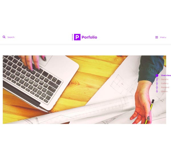 creative agency personal portfolio wordpress theme