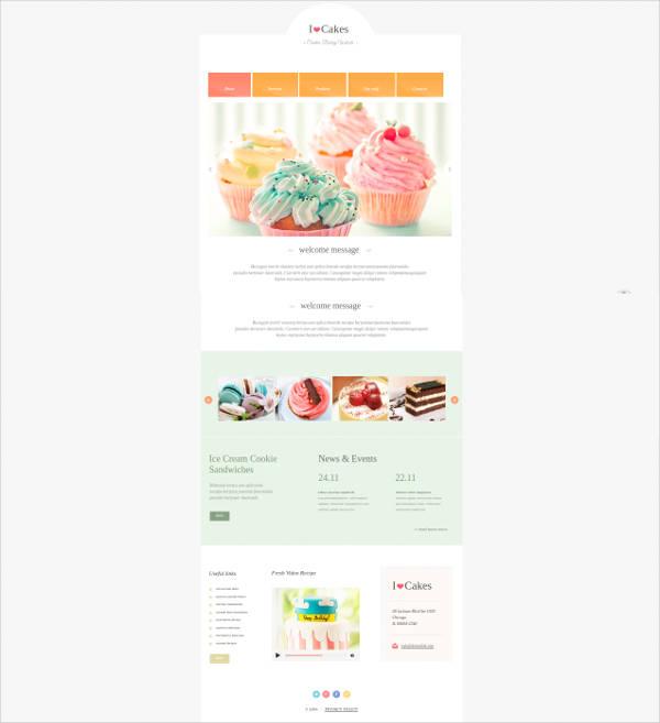creative bakery web template