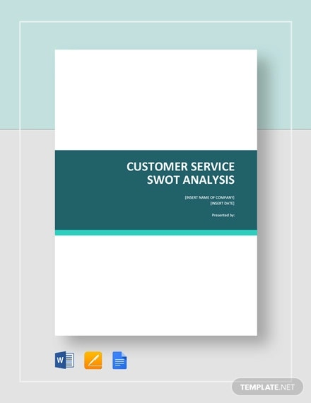 customer service swot analysis template