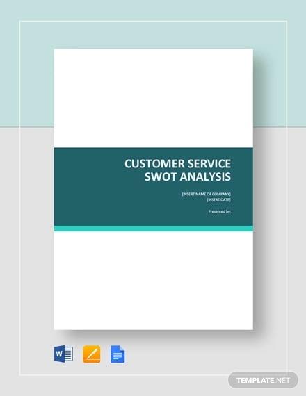 customer service swot analysis template