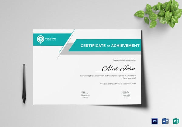 Winner certificate template 9 free pdf document downloads darts winner certificate template yadclub Choice Image