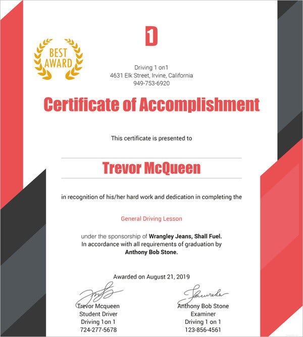 driving-experience-certificate-template