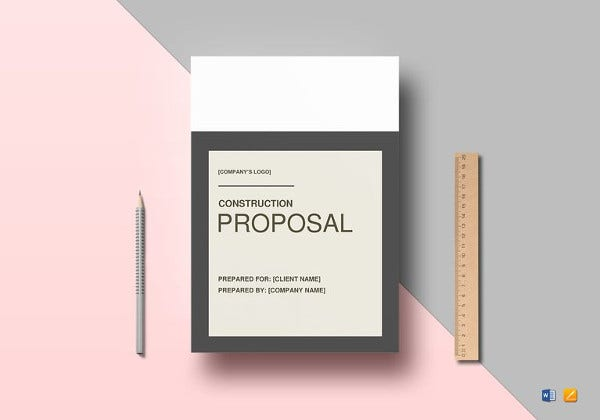 editable construction proposal template