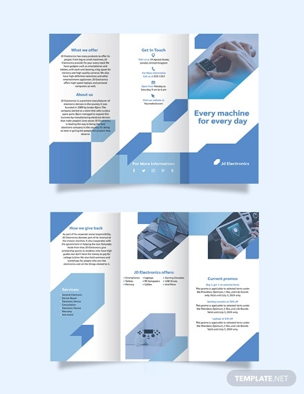 electronic tri fold brochure template