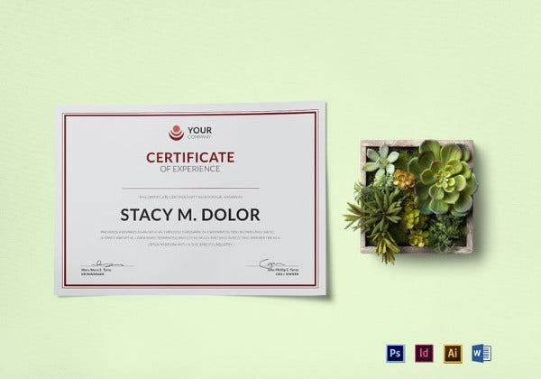 employee-experience-certificate-indesign-template