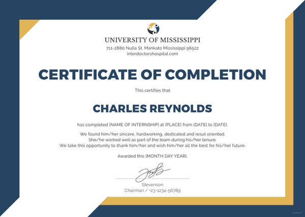 Internship certificate template 16 free word pdf document free internship certificate template altavistaventures Images