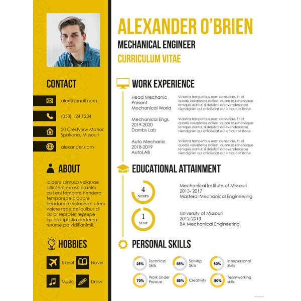 9  mechanical engineering resume templates