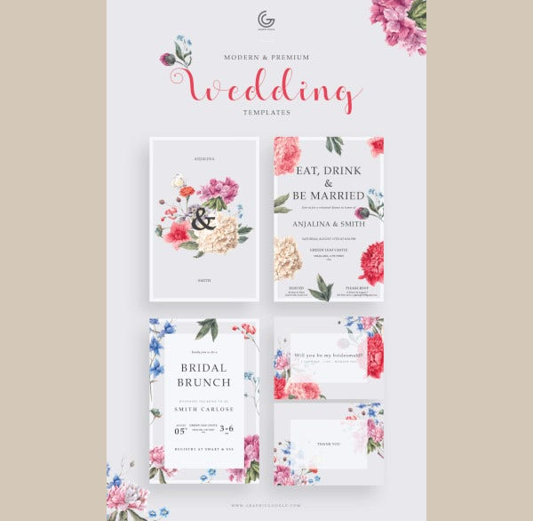 free modern wedding invitation template