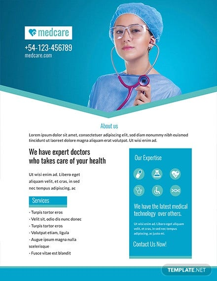 free sample medical flyer template