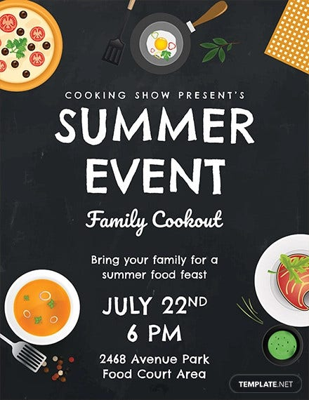 free summer food event flyer template