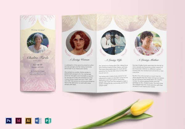 funeral tri fold brochure template