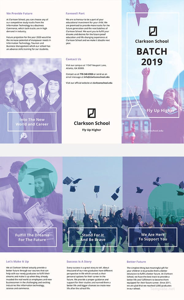 graduation brochure template