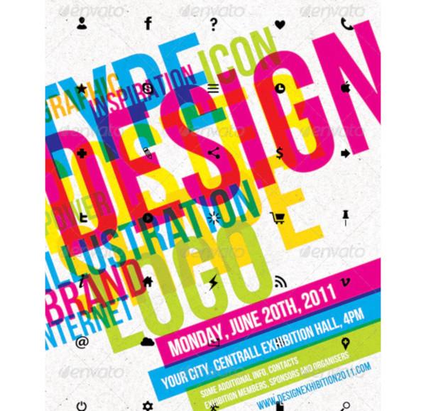 graphic design exhibition flyer1