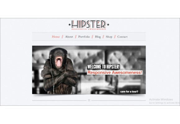 hipster retro responsive wordpress theme
