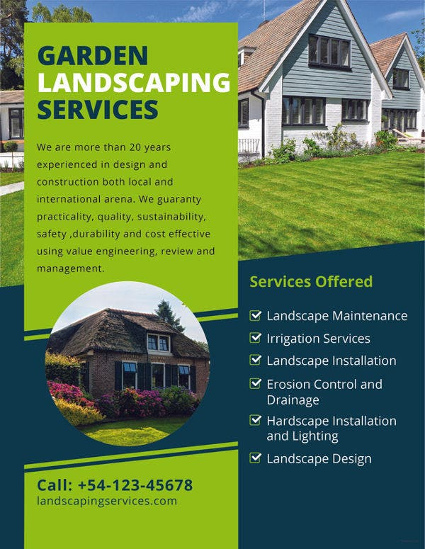 16 Landscaping Flyers Free Psd Ai Eps Document Download Free