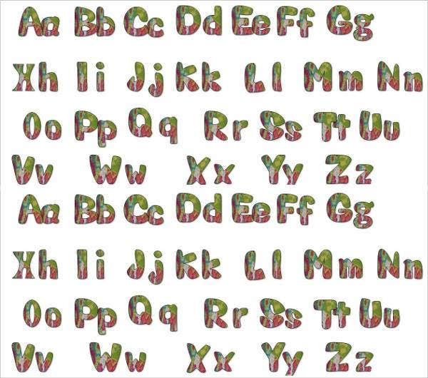 lowercase a to z bubble letter