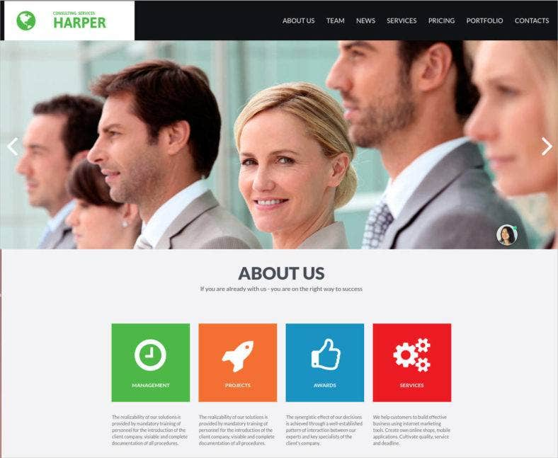 marketing consultant website template 788x647