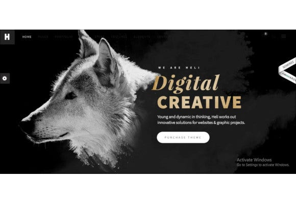 minimal creative black and white wordpress theme