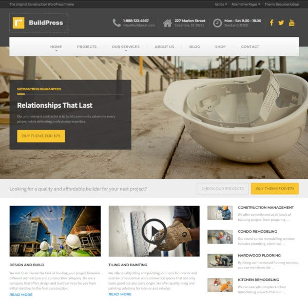 multi purpose construction and landscape wp theme