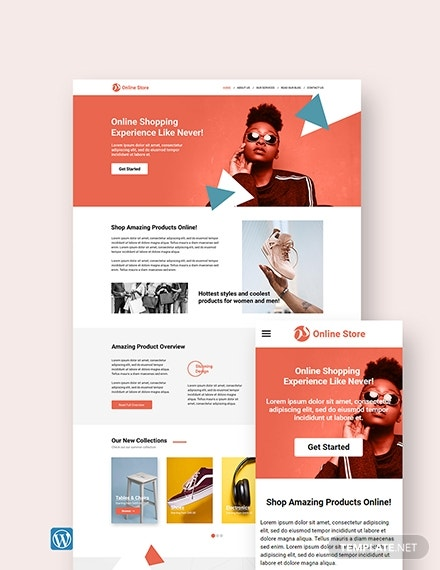 online store wordpress landing page theme template