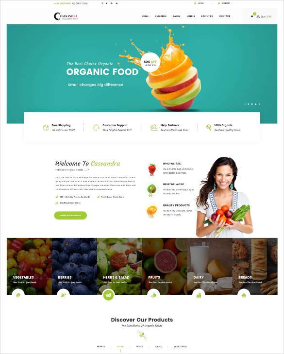 organic responsive muse template