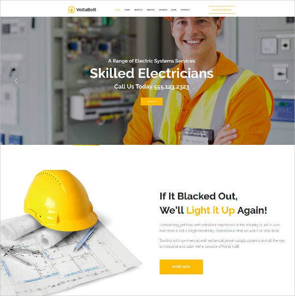 premium electricity electrician services wordpress theme1