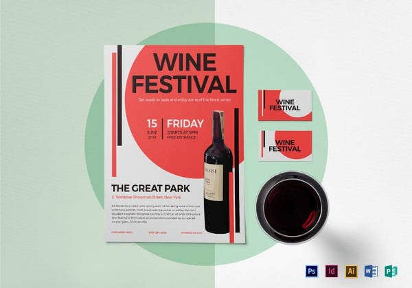 printable wine festival flyer template