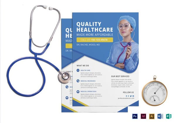 professional doctor health flyer template