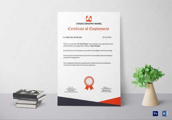 22 sample certificate of employment templates free sample sample guest employment certificate yadclub Gallery