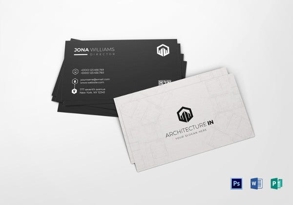 simple architect business card