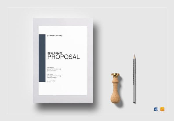 simple real estate proposal template to print