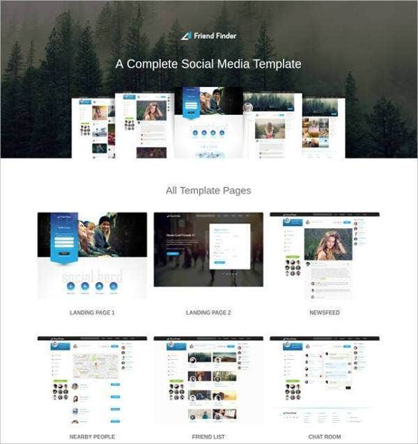 social media bootstrap html website template21
