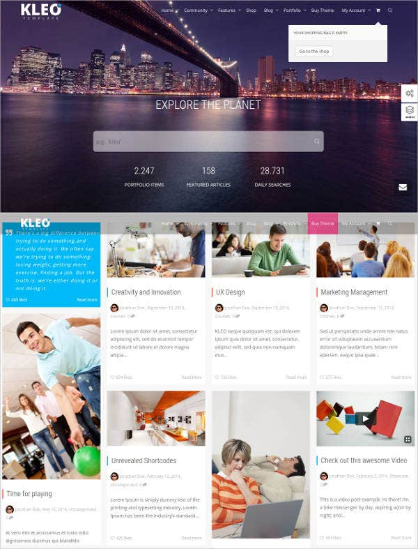 social network bootstrap wordpress theme