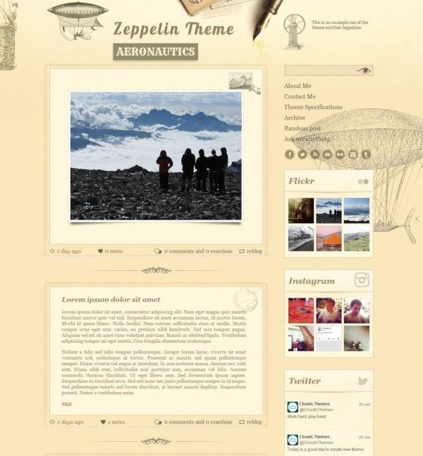vintage style tumblr theme