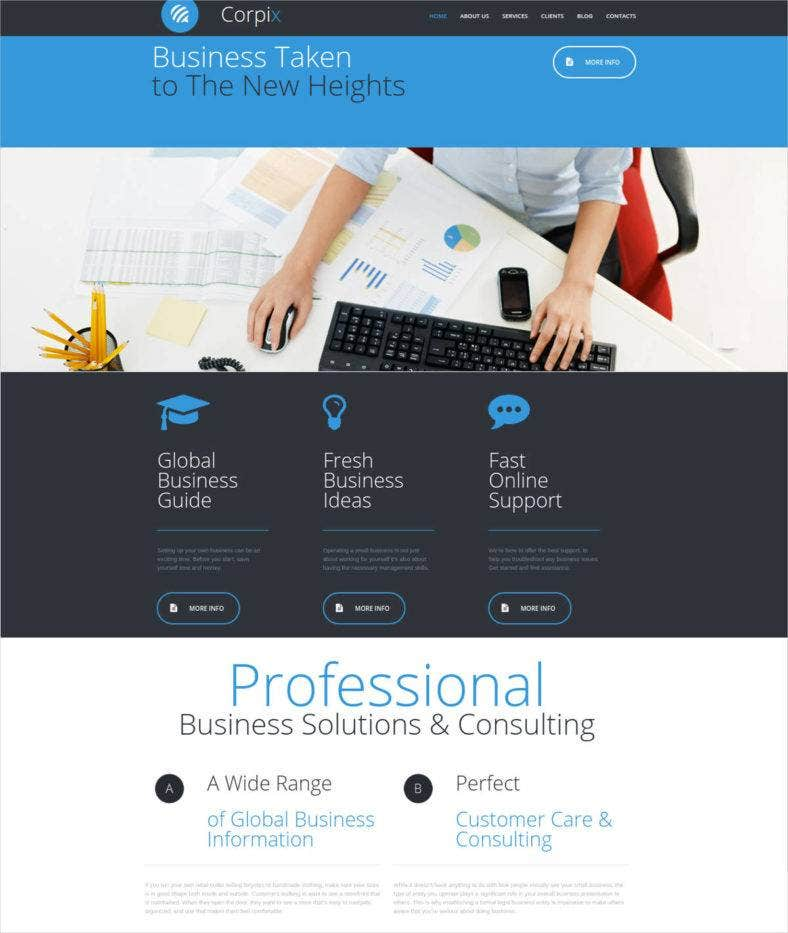 website design for business consultants 788x933