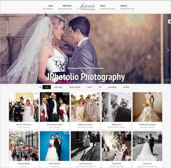wedding photography wp website theme1
