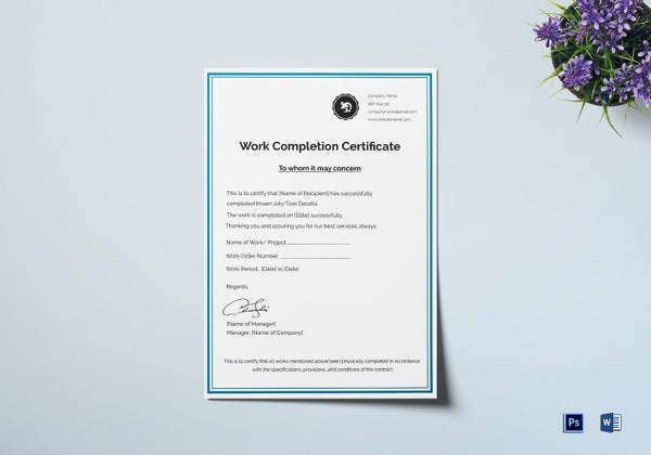 work-completion-certificate-template